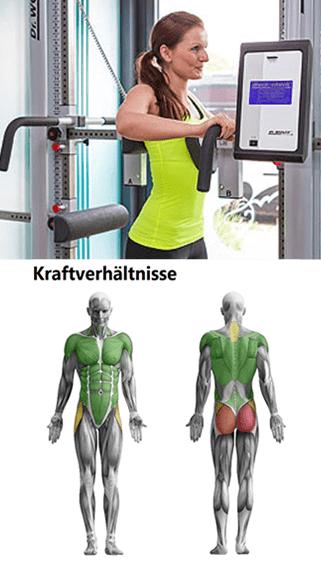 Der Back-Check von Dr.Wolff gibt optisches Feedback, welche Muskelgruppen abgeschwächt sind.